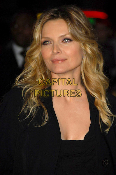 "MICHELLE PFEIFFER.""Stardust"" European film premiere, Odeon, Leicester Square, London, England. .October 3rd, 2007.headshot portrait black .CAP/CAS.©Bob Cass/Capital Pictures."