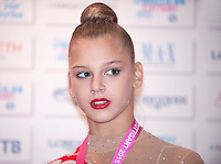 September 08, 2015 - Stuttgart, Germany - ALEKSANDRA SOLDATOVA of Russia, portrait during press interview after AA qualifications at 2015 World Championships.