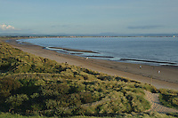 Irvine Beach looking towards Barassie and Troon from the Dragon Monument, Irvine, Ayrshire<br /> <br /> Copyright www.scottishhorizons.co.uk/Keith Fergus 2011 All Rights Reserved