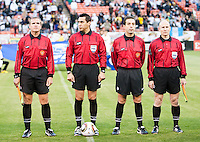 Referees. Real Madrid defeated Club America 3-2 at Candlestick Park in San Francisco, California on August 4th, 2010.