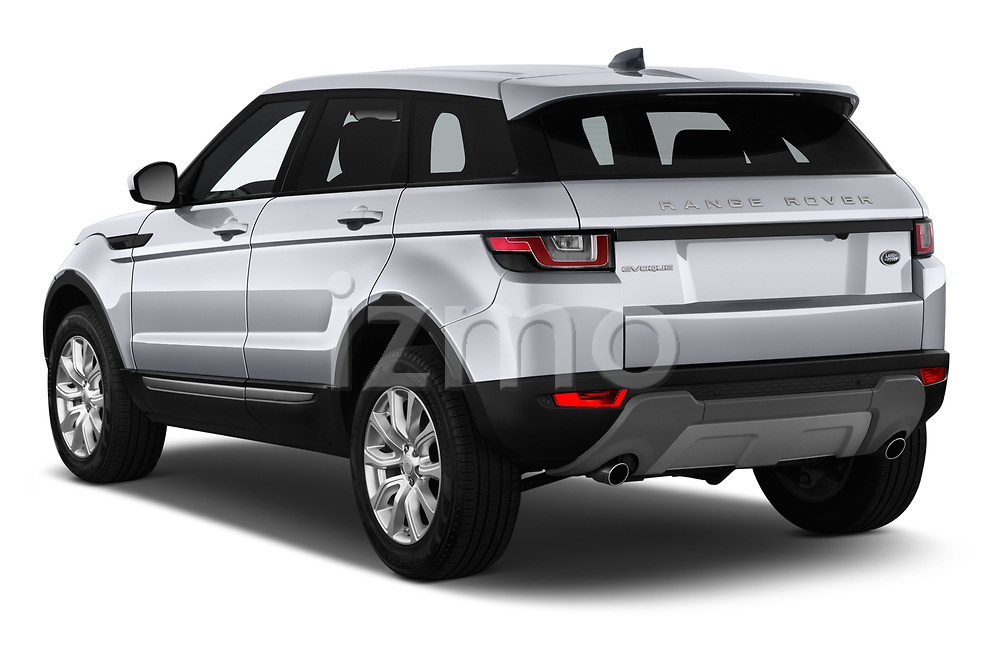 Car pictures of rear three quarter view of 2019 Land Rover Range-Rover-Evoque SE 5 Door SUV Angular Rear