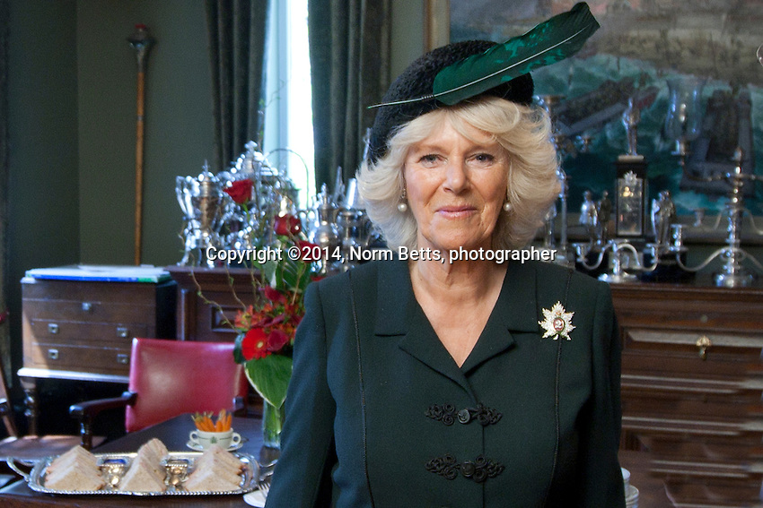 HRH Camilla visits the Queen's Own Rifles of Canada