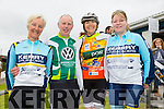 Maura Fitzmaurice Jack O'Connell, Annie Brosnan, and Joan Flavin at the St Kieran's GAA Cycle Tour on Sunday starting in the  Desmonds GAA Grounds