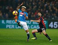 Kevin Malcuit of Napoli   during  Genoa -   Napoli Stadio Luigi Ferraris, Genoa, Italy; Serie A football 10th November 2018