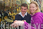 Christine Foley and Anthony Curran who are going to be Married in November winners of this weeks buyKerry competition choose Ross Jewellers in Tralee for the prize..