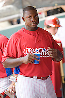 Howard, Ryan 7796.jpg. Minnesota Twins at Philadelphia Phillies. Spring Training Game. Saturday March 21st, 2009 in Clearwater, Florida. Photo by Andrew Woolley.