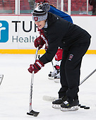 Liz Keady (Harvard - Assistant Coach) - The Harvard University Crimson practiced at Fenway on Monday, January 9, 2017, in Boston, Massachusetts.