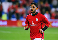 Neil Taylor of Swansea during the FIFA World Cup Qualifier Group D match between Wales and Republic of Ireland at The Cardiff City Stadium, Wales, UK. Monday 09 October 2017