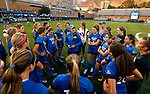 Coach Jennifer Rockwood_U5A8508<br /> <br /> Coach Rockwood speaks to the BYU Women's Soccer team after the game. The game between BYU and Ohio State ended in a scoreless draw at South Field on August 21, 2017.<br /> <br /> 17wSOC vs Ohio State<br /> <br /> August 21, 2017<br /> <br /> Photo by Jaren Wilkey/BYU<br /> <br /> © BYU PHOTO 2017<br /> All Rights Reserved<br /> photo@byu.edu  (801)422-7322