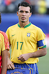 06 July 2007: Brazil captain Ji Parana (17). The Under-20 Men's National Team of the United States defeated Brazil's Under-20 Men's National Team 2-1 in a Group D opening round match at Frank Clair Stadium in Ottawa, Ontario, Canada during the FIFA U-20 World Cup Canada 2007 tournament.
