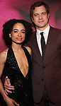 Lauren Ridloff and Joshua Jackson attends the Broadway Opening Night After Party for 'Children of a Lesser God' at Edison Ballroom on April 11, 2018 in New York City.