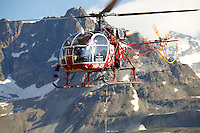 Mountain helicopter over Furgg , Zermatt ,