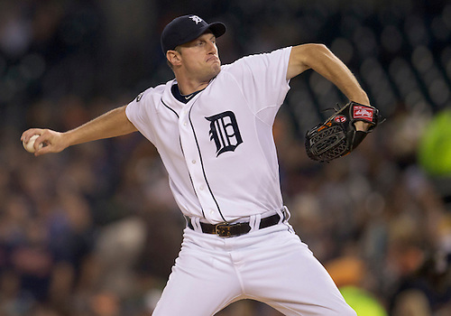 September 27, 2011:  Detroit Tigers starting pitcher Max Scherzer (#37) delivers pitch during MLB game action between the Cleveland Indians and the Detroit Tigers at Comerica Park in Detroit, Michigan.  The Tigers defeated the Indians 9-6.