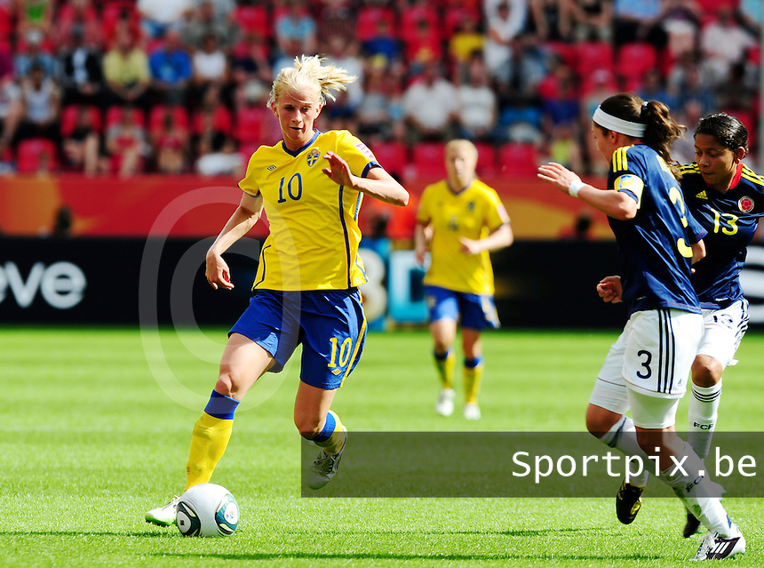 Fifa Women's World Cup Germany 2011 : Colombia - Sweden at Bayarena Leverkusen : Sofia Jakobsson.foto DAVID CATRY / Vrouwenteam.be