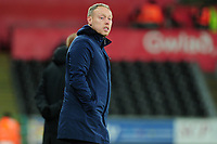 Steve Cooper Head Coach of Swansea City in action during the Sky Bet Championship match between Swansea City and Queens Park Ranger at the Liberty Stadium in Swansea, Wales, UK. Tuesday 11 February 2020
