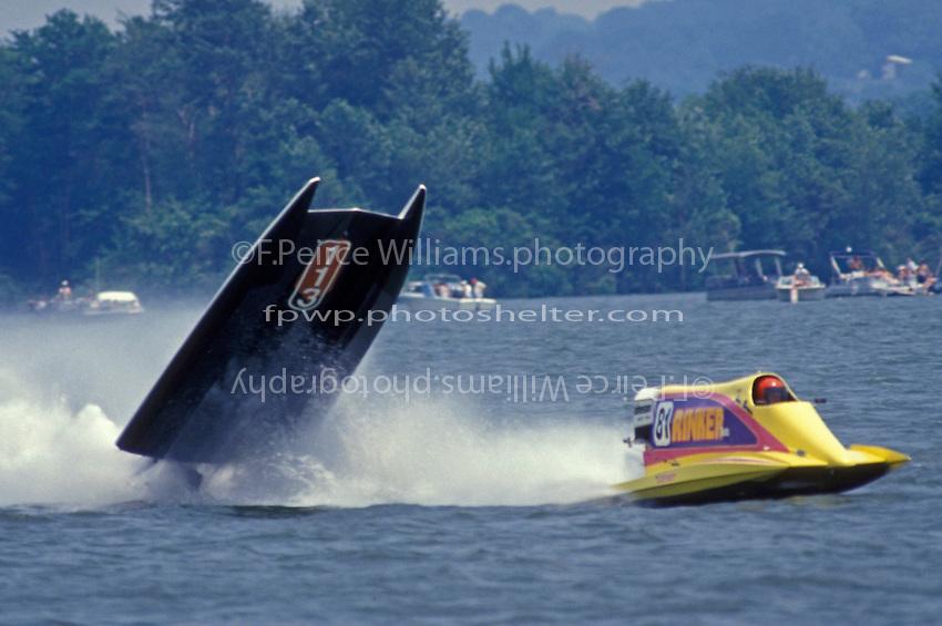 Frame 1: While running outside of John Bower (#81) boat #113 blows over. Buckeye Lake, Ohio 1993 (SST-60)