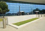 International airport terminal building exterior, Gibraltar, southern Europe