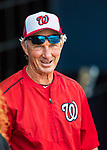 28 February 2017: Washington Nationals Bench Coach Chris Speier smiles in the dugout prior to the inaugural Spring Training game between the Washington Nationals and the Houston Astros at the Ballpark of the Palm Beaches in West Palm Beach, Florida. The Nationals defeated the Astros 4-3 in Grapefruit League play. Mandatory Credit: Ed Wolfstein Photo *** RAW (NEF) Image File Available ***