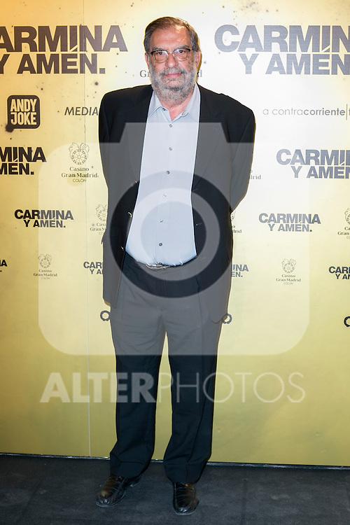 """Enrique Gonzalez Macho attend the Premiere of the movie """"Carmina y Amen"""" at the Callao Cinema in Madrid, Spain. April 28, 2014. (ALTERPHOTOS/Carlos Dafonte)"""