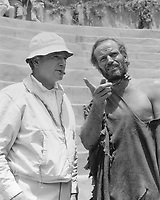 Planet of the Apes (1968) <br /> Behind the scenes photo of Franklin J Schaffner &amp; Charlton Heston<br /> *Filmstill - Editorial Use Only*<br /> CAP/KFS<br /> Image supplied by Capital Pictures