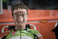 Fr&eacute;derique Robert's (BEL/Crelan - Vastgoedservice) post-race face<br /> <br /> 91th Schaal Sels 2016
