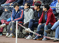 Korean Swansea supporters during the Barclays Premier League match between Swansea City and Leicester City at the Liberty Stadium, Swansea on December 05 2015