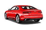 Car pictures of rear three quarter view of a 2018 Audi RS5 Base 2 Door Coupe angular rear
