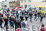 Cullen Pipe band who are celebrating their 75th anniversary marching in the Rathmore St Patricks parade on Sunday