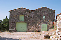 Domaine Ermitage du Pic St Loup, Chateau Ste Agnes. Pic St Loup. Languedoc. The winery building. France. Europe.