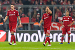 03.11.2018, Allianz Arena, Muenchen, GER, 1.FBL,  FC Bayern Muenchen vs. SC Freiburg, DFL regulations prohibit any use of photographs as image sequences and/or quasi-video, im Bild enttaeuscht Niklas Suele (FCB #4) Joshua Kimmich (FCB #32) Rafinha (FCB #13) <br /> <br />  Foto © nordphoto / Straubmeier