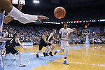 CHAPEL HILL, NC - DECEMBER 20: North Carolina's Cameron Johnson (13). The University of North Carolina Tar Heels hosted the Wofford College Terriers on December 20, 2017 at Dean E. Smith Center in Chapel Hill, NC in a Division I men's college basketball game. Wofford won the game, upsetting UNC, 79-75.