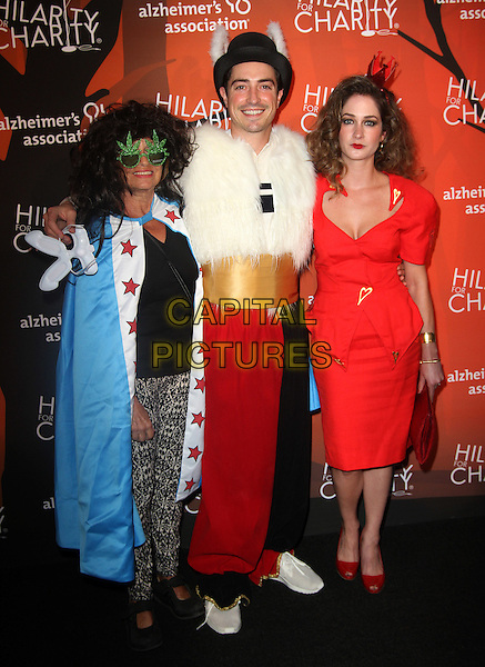 15 October 2016 - Beverly Hills, California - Ben Feldman with wife Michelle Mulitz and his mother Marcia Muir Mitchell. Fifth Annual Hilarity For Charity Variety Show held at The Hollywood Palladium in Hollywood.    <br /> CAP/ADM<br /> &copy;ADM/Capital Pictures