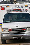 Two EMS team members of Oconomowoc Fire Department arrive at an emergency scene