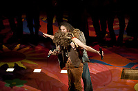 """Dress rehearsal for the Occidental Theater Dept. Production of """"Hair"""", the 1968 musical, directed by Alan Freeman presented in a walkabout style. Keck Theater, Los Angeles, California, April 16, 2009. (Photo by Marc Campos, College Photographer, Copyright Occidental College 2009)"""
