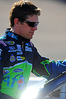 Apr 10, 2008; Avondale, AZ, USA; NASCAR Sprint Cup Series driver Carl Edwards during qualifying for the Subway Fresh Fit 500 at Phoenix International Raceway. Mandatory Credit: Mark J. Rebilas-