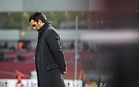 FUSSBALL   CHAMPIONS LEAGUE   SAISON 2011/2012   GRUPPENPHASE Bayer 04 Leverkusen - FC Chelsea    23.11.2011 Trainer Robin DUTT (Bayer 04 Leverkusen)