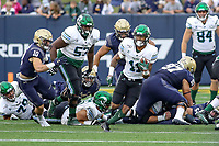 Annapolis, MD - October 26, 2019: Tulane Green Wave running back Amare Jones (11) runs the ball during the game between Tulane and Navy at  Navy-Marine Corps Memorial Stadium in Annapolis, MD.   (Photo by Elliott Brown/Media Images International)