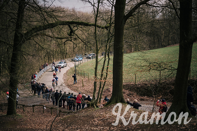 breakaway group up the Kemmelberg cobbles<br /> <br /> Driedaagse Brugge-De Panne 2018<br /> Bruges - De Panne (202km)
