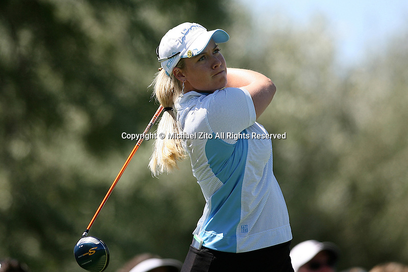 04/05/09 Rancho Mirage, CA:  Brittany Lincicome during the final round of the Kraft Nabisco Championship held at Mission Hills Country Club.. Linciome Won the Tournament with an Eagle on the 18th hole
