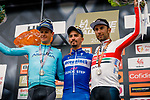 Julian Alaphilippe (FRA) Deceuninck-Quick Step wins the 83rd edition of La Fl&egrave;che Wallonne 2019, with Jakob Fuglsang (DEN) Astana Pro Team 2nd and Diego Ulissi (ITA) UAE Team Emirates 3rd place, running 195km from Ans to Huy, Belgium. 24th April 2019<br /> Photo by Thomas van Bracht / PelotonPhotos.com / Cyclefile<br /> Photo by Thomas van Bracht / PelotonPhotos.com / Cyclefile