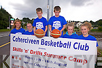 Cahersiveen Basketball club to run a Skills n'Drills summer camp from the 12th -16th August at Colaiste na Sceilge, the camp will be run by Mark Scannell this years Superleague Coach of the Year, pictured here l-r; Amy Fitzgerald, Cian O'Shea, Ronan Quinlan, Donagh Quinlan,  Clodagh Quinlan & Saidbh Fitzgerald.