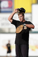 May 28 2009: Jeffrey Cunningham of the Modesto Nuts before game against the Inland Empire 66'ers at Arrowhead Credit Union Park in San Bernardino,CA.  Photo by Larry Goren/Four Seam Images
