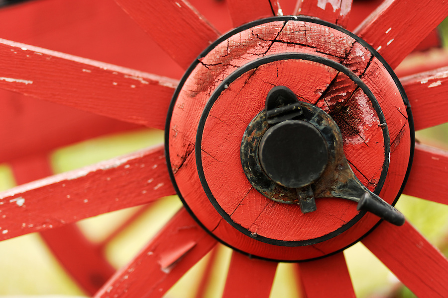 Wheel hub of British cannon from Revolutionary War era, Saratoga National Historic Park, Stillwater, New York, USA