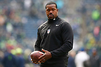 OLB coach Joey Porter of the Pittsburgh Steelers looks on against the Seattle Seahawks during the game at CenturyLink Field on November 29, 2015 in Seattle, Washington. (Photo by Jared Wickerham/DKPittsburghSports)