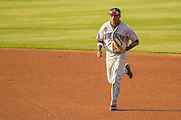 Lake County Captains outfielder Greg Allen (6) during a Midwest League game against the Wisconsin Timber Rattlers on June 3rd, 2015 at Fox Cities Stadium in Appleton, Wisconsin. Wisconsin defeated Lake County 3-2. (Brad Krause/Four Seam Images)