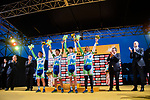 Matrix Powertag best Japenese team on the podium at the end of the 2018 Saitama Criterium, Japan. 4th November 2018.<br /> Picture: ASO/Pauline Ballet | Cyclefile<br /> <br /> <br /> All photos usage must carry mandatory copyright credit (&copy; Cyclefile | ASO/Pauline Ballet)