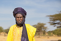 Elderly Fulani herder near Marigot One, St Louis, Senegal