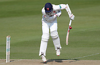 Jamie Porter of Essex takes evasive action whilst batting during Surrey CCC vs Essex CCC, Specsavers County Championship Division 1 Cricket at the Kia Oval on 13th April 2019