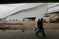 Il premier Gentiloni inaugura   la nuova Stazione alta velocita di Napoli Afragola  non ancora compltata<br /> nella foto il cantiere
