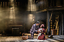 London, UK. 14.10.2016. Danielle Tarento, Steven M Levy, Sean Sweeney and Vaughan Williams present RAGTIME, at the Charing Cross Theatre. Directed by Thom Southerland, with lighting design by Howard Hudson. Picture shows:  Ako Mitchell (Coalhouse), Jennifer Saayeng (Sarah). Photograph © Jane Hobson.